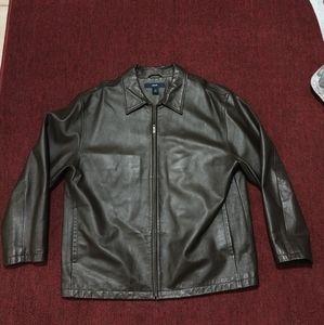 GAP Men's Brown Leather Jacket XXL #54023